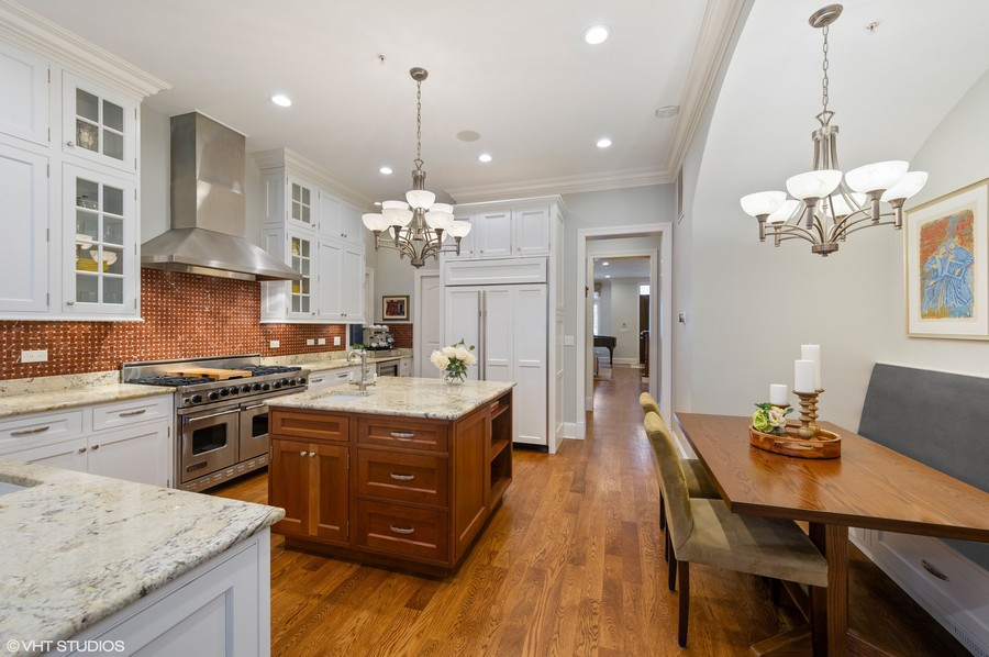 Real Estate Photography - 2309 N. Janssen Ave., Chicago, IL, 60614 - Kitchen and Breakfast Nook