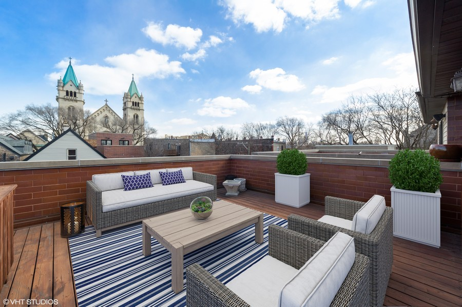 Real Estate Photography - 2309 N. Janssen Ave., Chicago, IL, 60614 - 3rd Floor Roof Deck ( 1 of 2 )