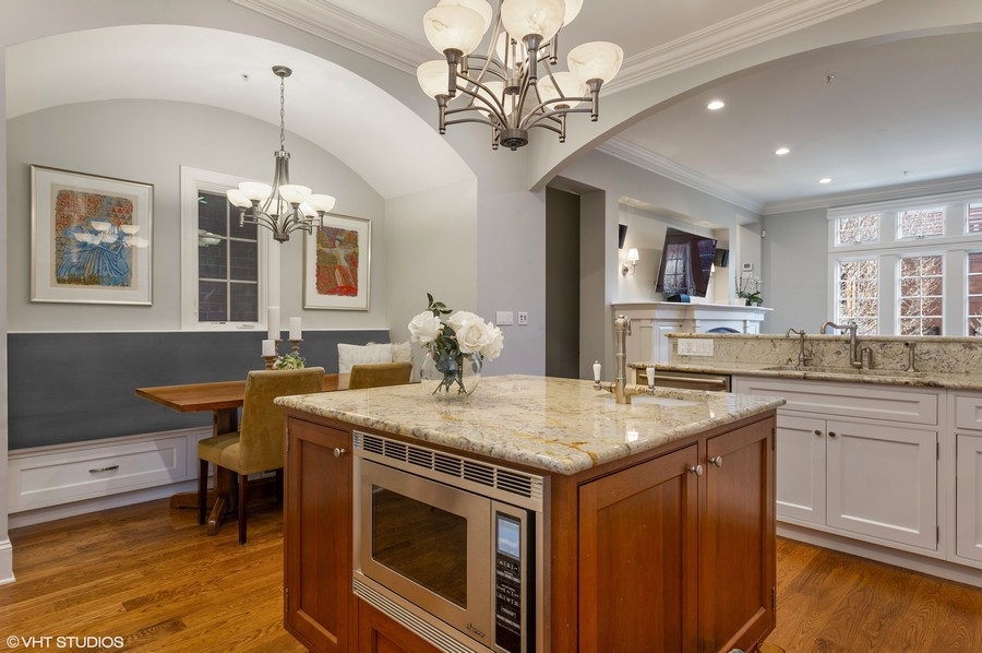 Real Estate Photography - 2309 N. Janssen Ave., Chicago, IL, 60614 - Kitchen with breakfast area