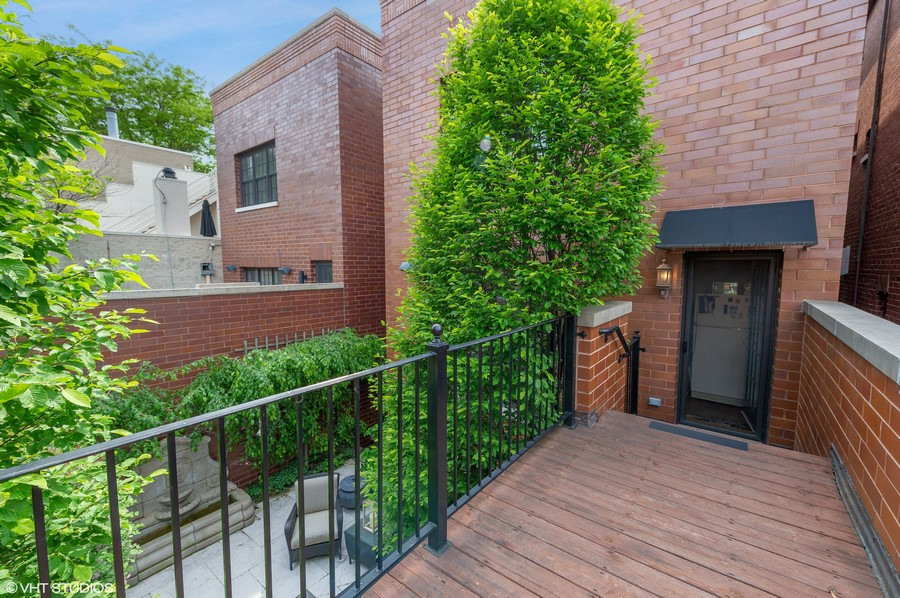 Real Estate Photography - 2309 N. Janssen Ave., Chicago, IL, 60614 - Walk Way From Family Room to Garage Roof Deck