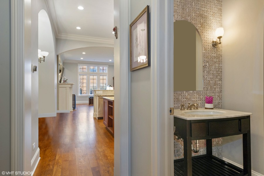 Real Estate Photography - 2309 N. Janssen Ave., Chicago, IL, 60614 - Powder Room