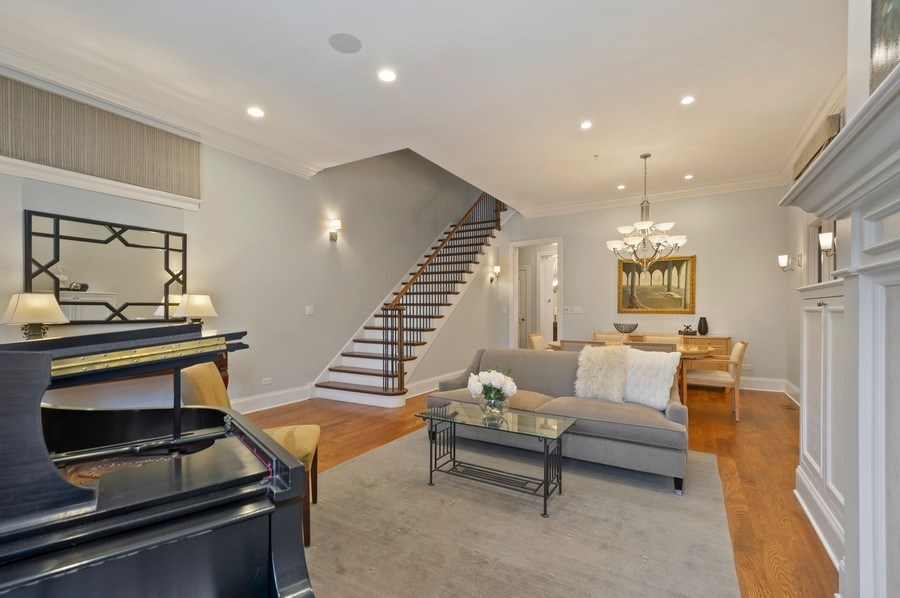 Real Estate Photography - 2309 N. Janssen Ave., Chicago, IL, 60614 - Living Room / Dining Room