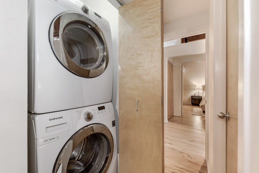 Real Estate Photography - 1259 N Wood St, 206, Chicago, IL, 60622 - Laundry Room