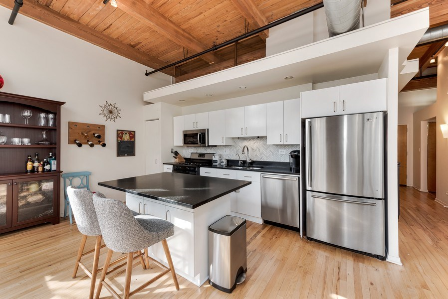 Real Estate Photography - 1259 N Wood St, 206, Chicago, IL, 60622 - Kitchen