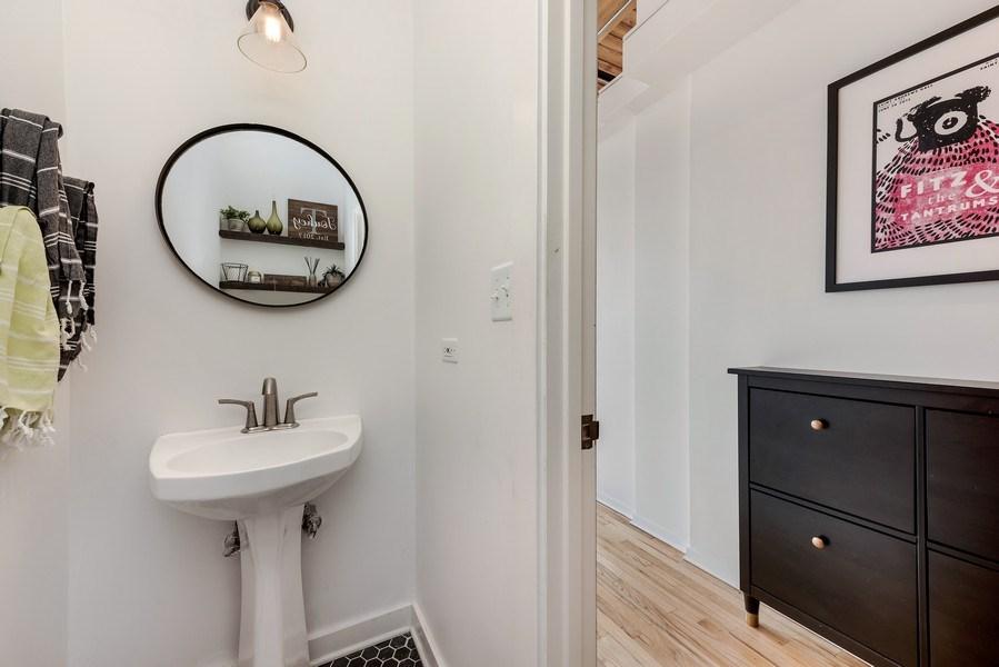 Real Estate Photography - 1259 N Wood St, 206, Chicago, IL, 60622 - Half Bath