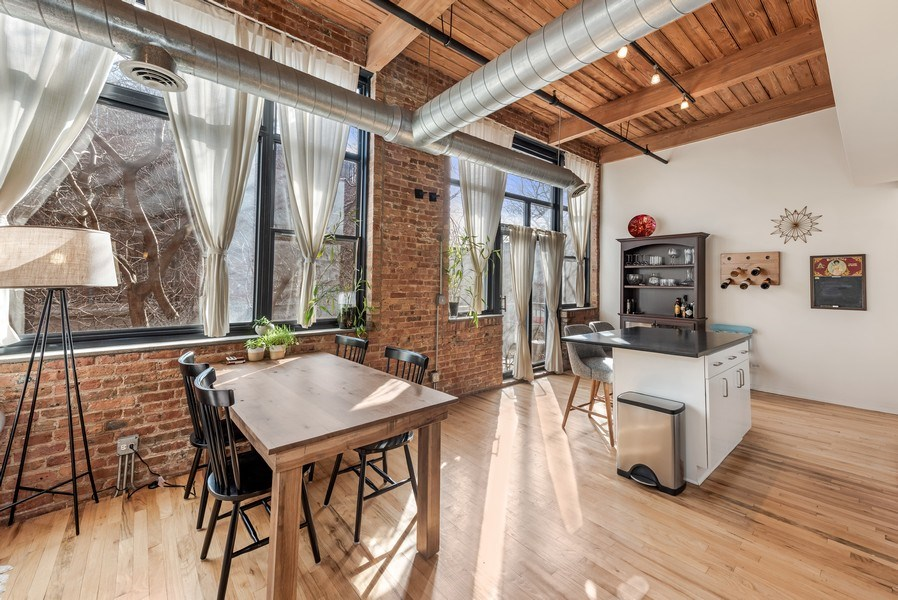 Real Estate Photography - 1259 N Wood St, 206, Chicago, IL, 60622 - Kitchen / Dining Room