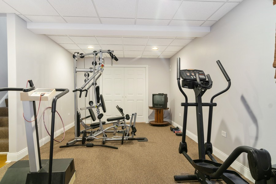 Real Estate Photography - 876 Cambridge, Elmhurst, IL, 60126 - Exercise Room