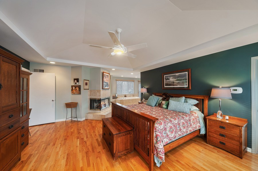 Real Estate Photography - 1356 Rosewood Ave, Deerfield, IL, 60015 - Master Bedroom