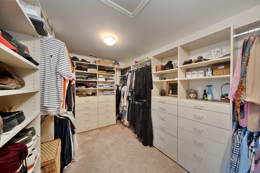 Real Estate Photography - 1356 Rosewood Ave, Deerfield, IL, 60015 - Master Bedroom Closet