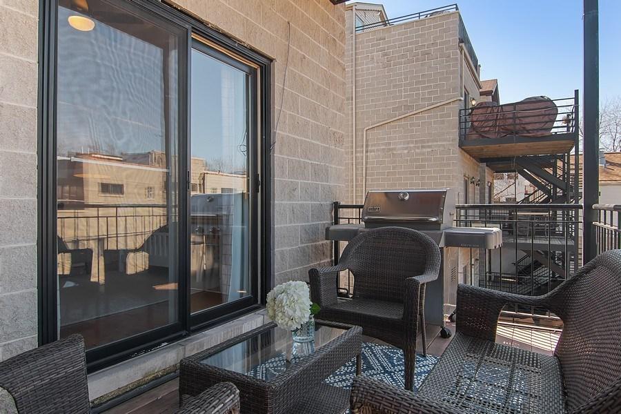 Real Estate Photography - 1846 W Armitage, Unit 2W, Chicago, IL, 60622 - Back Deck