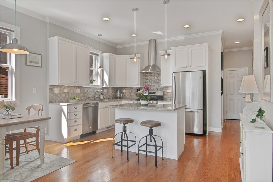Real Estate Photography - 1846 W Armitage, Unit 2W, Chicago, IL, 60622 - Kitchen / Dining Room