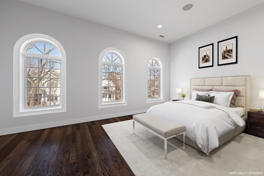 Real Estate Photography - 1921 W George, Chicago, IL, 60618 - 2nd Bedroom