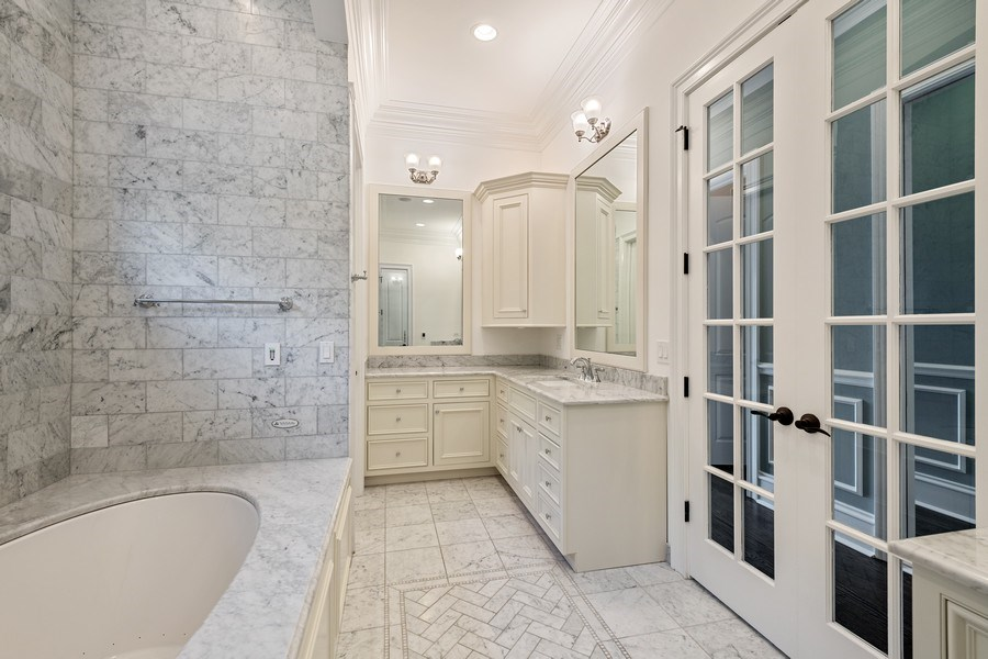 Real Estate Photography - 1921 W George, Chicago, IL, 60618 - Master Bathroom