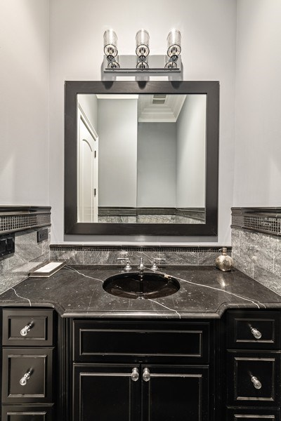 Real Estate Photography - 1921 W George, Chicago, IL, 60618 - Powder Room