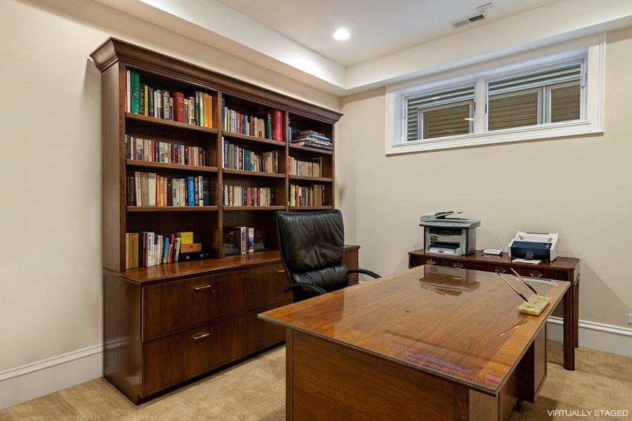 Real Estate Photography - 1921 W George, Chicago, IL, 60618 - Lower Level Bedroom/Office