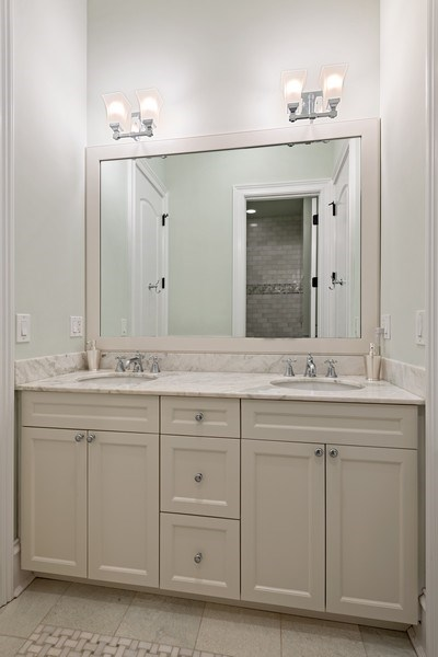 Real Estate Photography - 1921 W George, Chicago, IL, 60618 - 2nd Bathroom