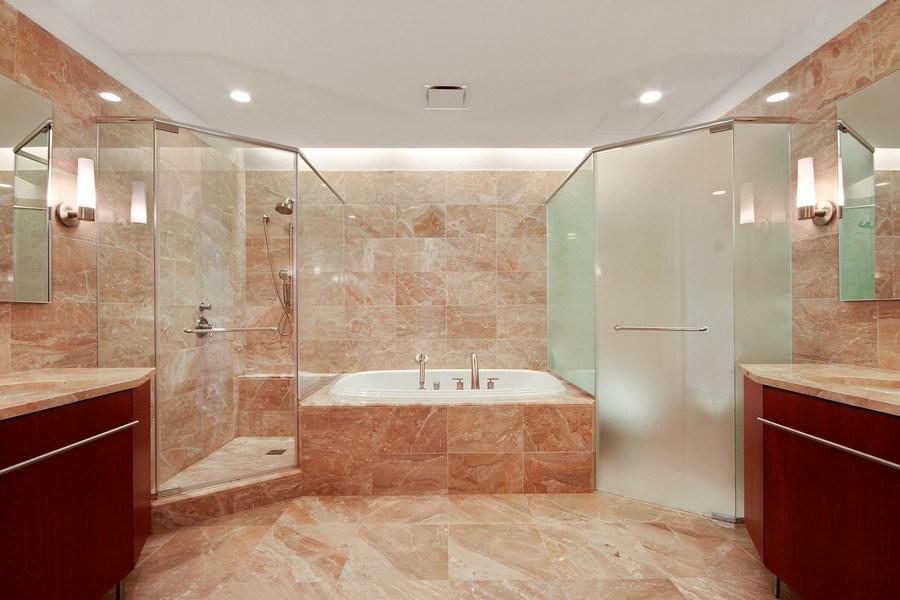 Real Estate Photography - 401 N Wabash, Unit 69G, Chicago, IL, 60611 - Master Bathroom