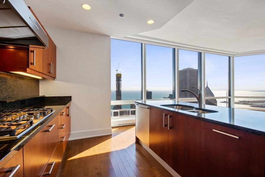 Real Estate Photography - 401 N Wabash, Unit 69G, Chicago, IL, 60611 - Kitchen