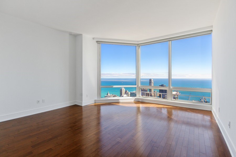 Real Estate Photography - 401 N Wabash, Unit 69G, Chicago, IL, 60611 - Master Bedroom