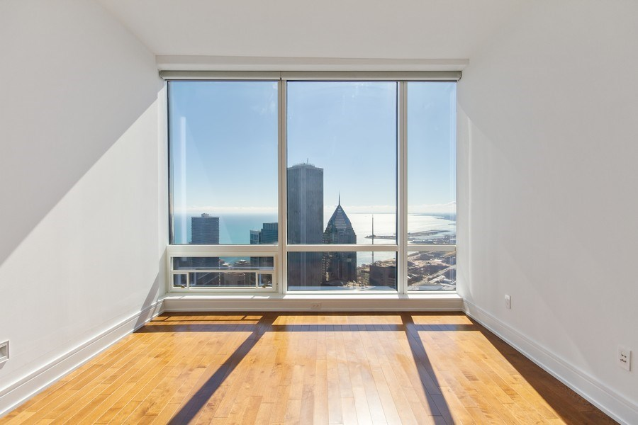 Real Estate Photography - 401 N Wabash, Unit 69G, Chicago, IL, 60611 - Bedroom