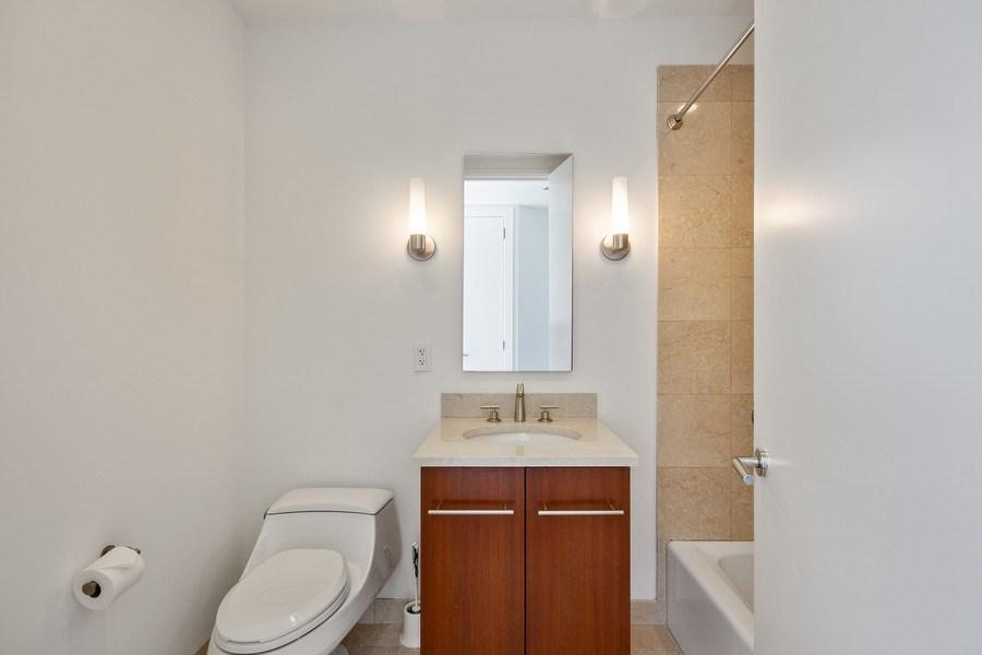 Real Estate Photography - 401 N Wabash, Unit 69G, Chicago, IL, 60611 - 2nd Bathroom