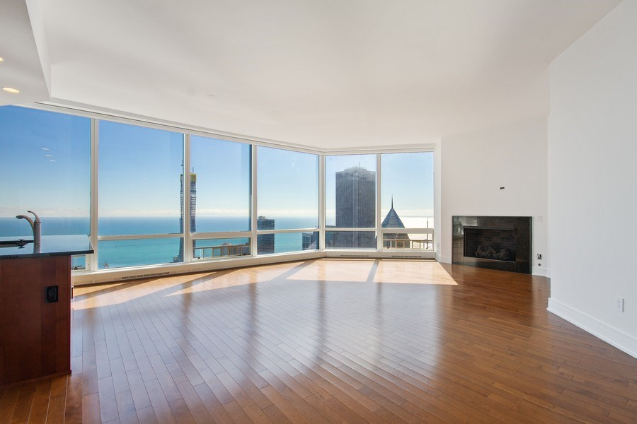 Real Estate Photography - 401 N Wabash, Unit 69G, Chicago, IL, 60611 - Kitchen/Living