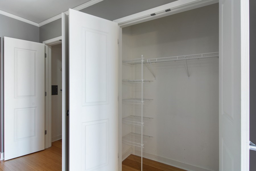 Real Estate Photography - 225 N Colombus, Unit 5406, Chicago, IL, 60601 - Closet
