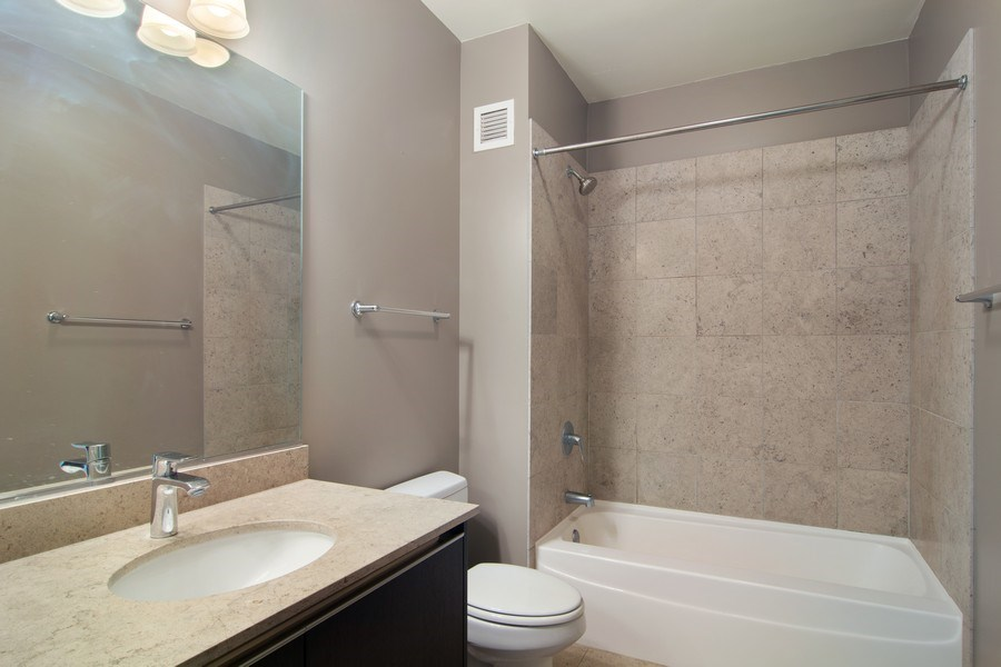 Real Estate Photography - 225 N Colombus, Unit 5406, Chicago, IL, 60601 - Bathroom