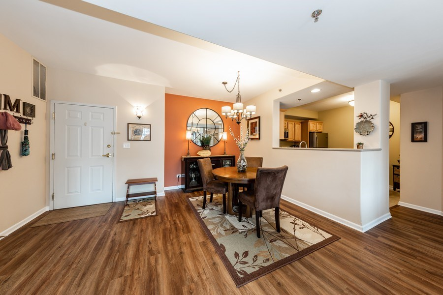 Real Estate Photography - 543 N Hough St, Unit 204, Barrington, IL, 60010 - Foyer/Dining Room