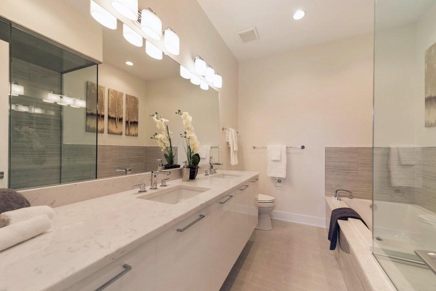 Real Estate Photography - 1220 W OHIO STREET 1, CHICAGO, IL, 60642 - Master Bathroom
