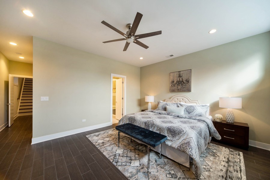 Real Estate Photography - 1220 W OHIO STREET 1, CHICAGO, IL, 60642 - Master Bedroom