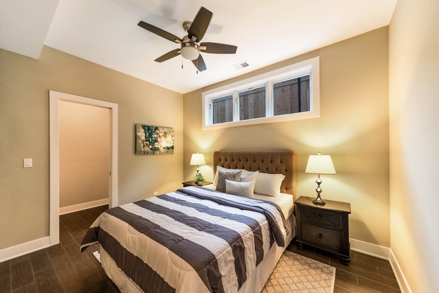 Real Estate Photography - 1220 W OHIO STREET 1, CHICAGO, IL, 60642 - Bedroom