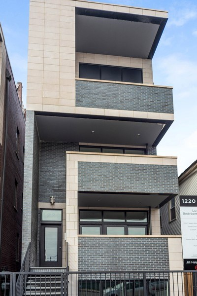Real Estate Photography - 1220 W OHIO STREET 1, CHICAGO, IL, 60642 - Front View
