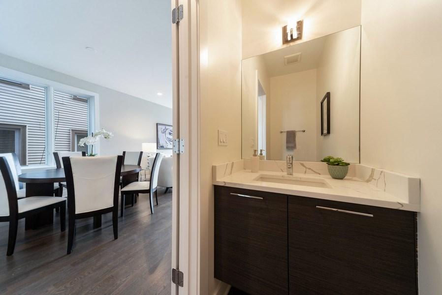 Real Estate Photography - 1220 W OHIO STREET 1, CHICAGO, IL, 60642 - Half Bath