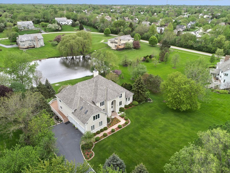 Real Estate Photography - 20945 N Swansway, Deer Park, IL, 60010 - Aerial View