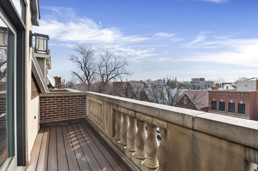 Real Estate Photography - 2230 W Medill Ave, Chicago, IL, 60647 - 3rd Floor Terrace