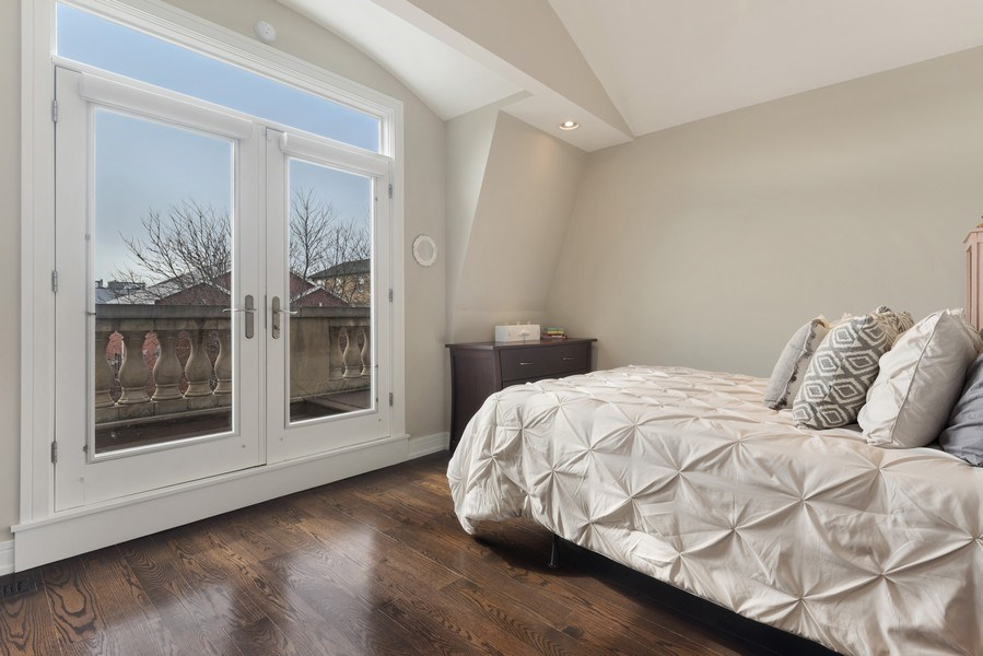 Real Estate Photography - 2230 W Medill Ave, Chicago, IL, 60647 - 3rd Floor Bedroom