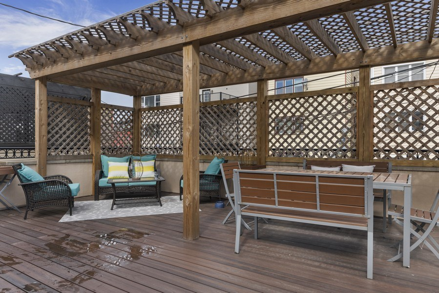 Real Estate Photography - 2230 W Medill Ave, Chicago, IL, 60647 - Garage Roof Deck