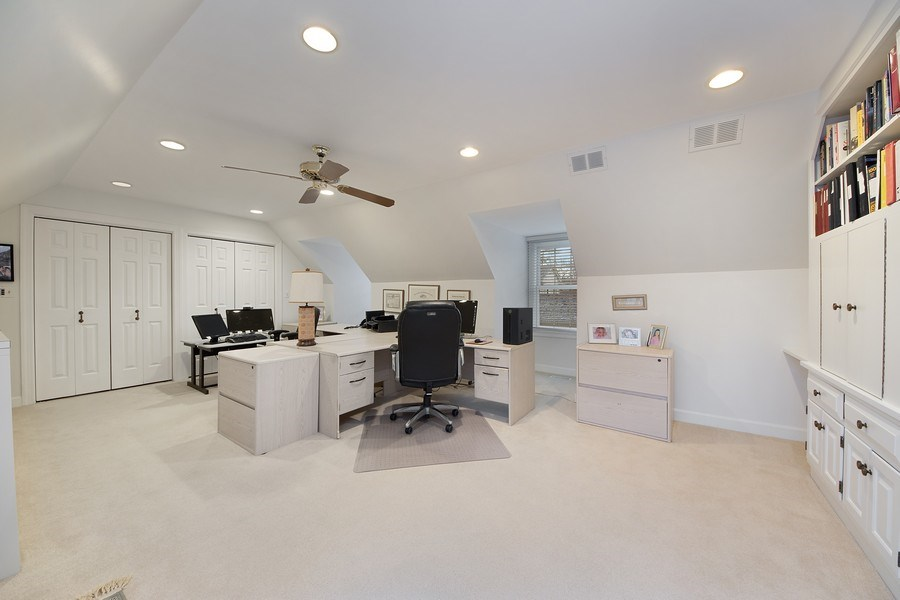 Real Estate Photography - 2 Court of Natchez, Lincolnshire, IL, 60069 - 3rd Bedroom/Office