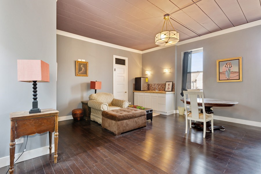 Real Estate Photography - 4541 S Michigan Ave, Chicago, IL, 60653 - Coach House Family Room/2nd Bedroom