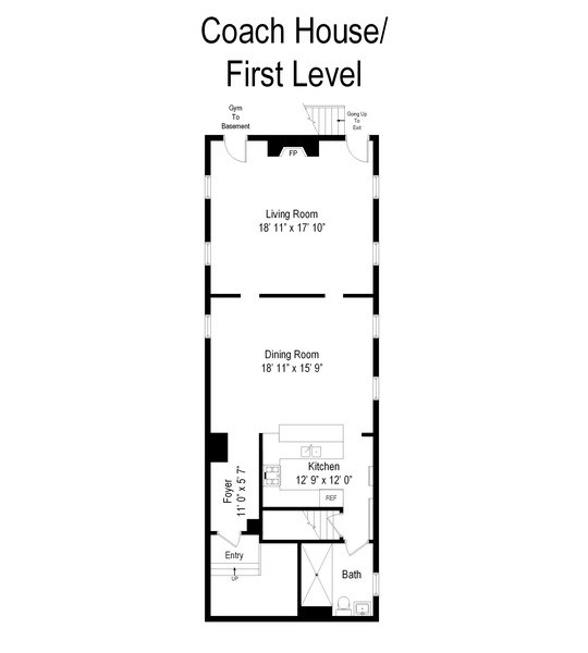 Real Estate Photography - 4541 S Michigan Ave, Chicago, IL, 60653 - Floor Plan
