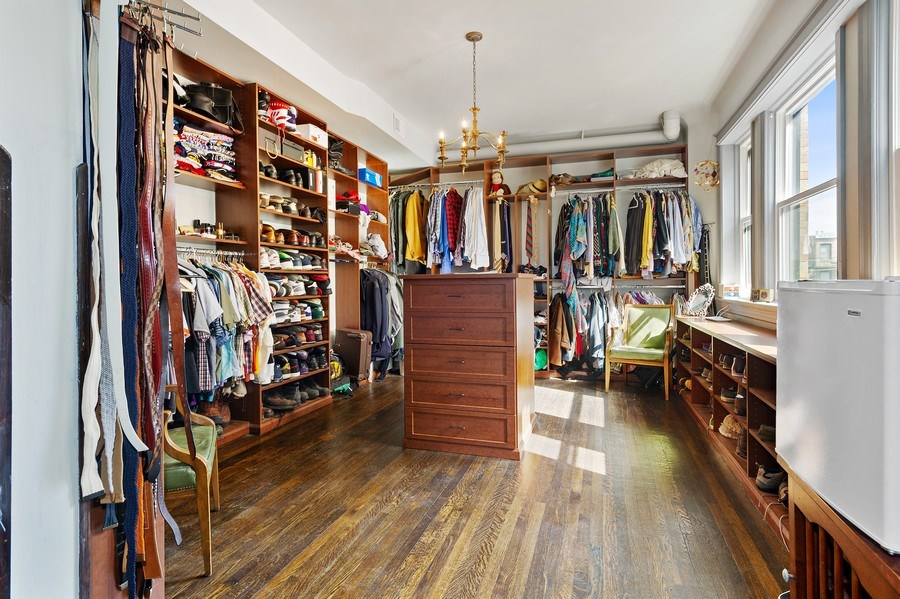 Real Estate Photography - 4541 S Michigan Ave, Chicago, IL, 60653 - Master Bedroom Closet