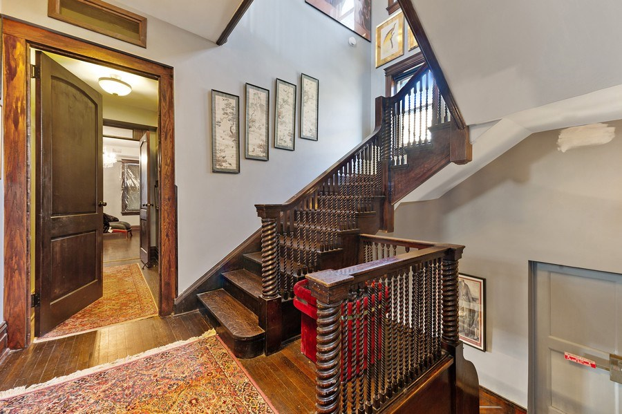Real Estate Photography - 4541 S Michigan Ave, Chicago, IL, 60653 - Staircase