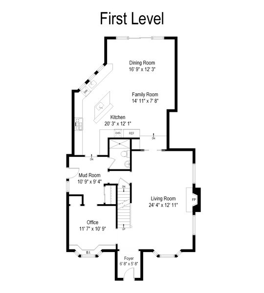 Real Estate Photography - 1725 Maplewood Ln, Glenview, IL, 60025 - Floor Plan