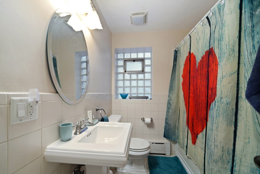 Real Estate Photography - 4042 N Springfield, Chicago, IL, 60618 - Unit 1 Bathroom 2