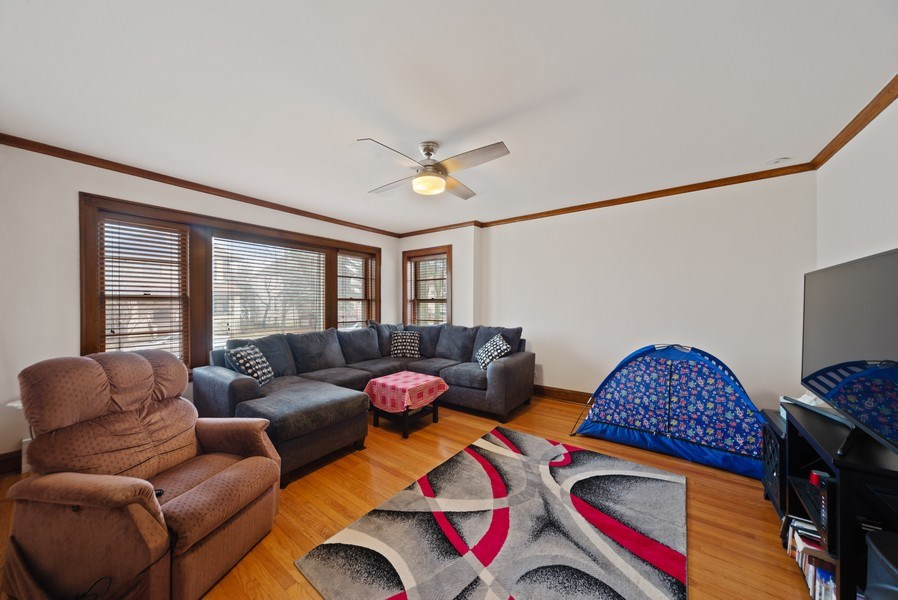 Real Estate Photography - 4042 N Springfield, Chicago, IL, 60618 - Unit 1 Living Room