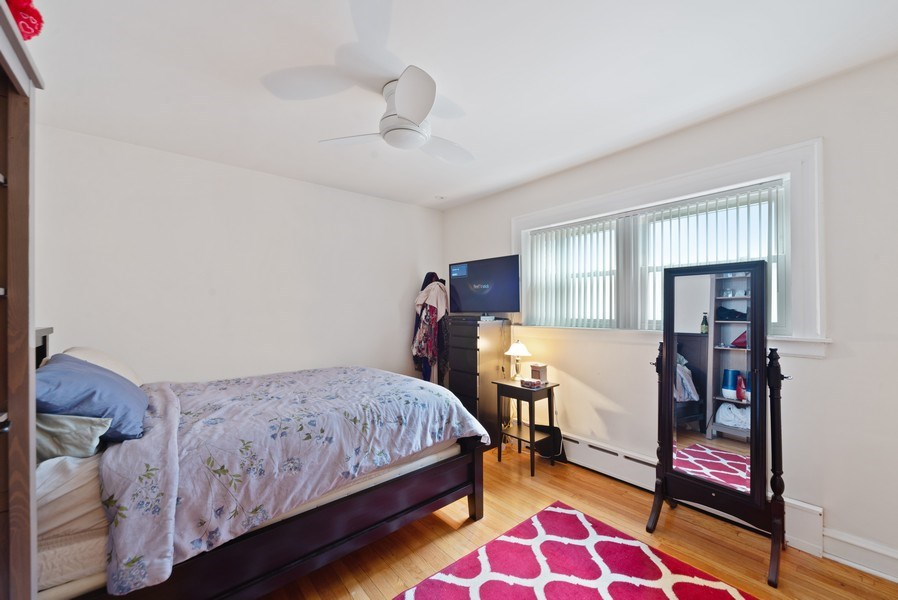 Real Estate Photography - 4042 N Springfield, Chicago, IL, 60618 - Unit 1 Bedroom 1