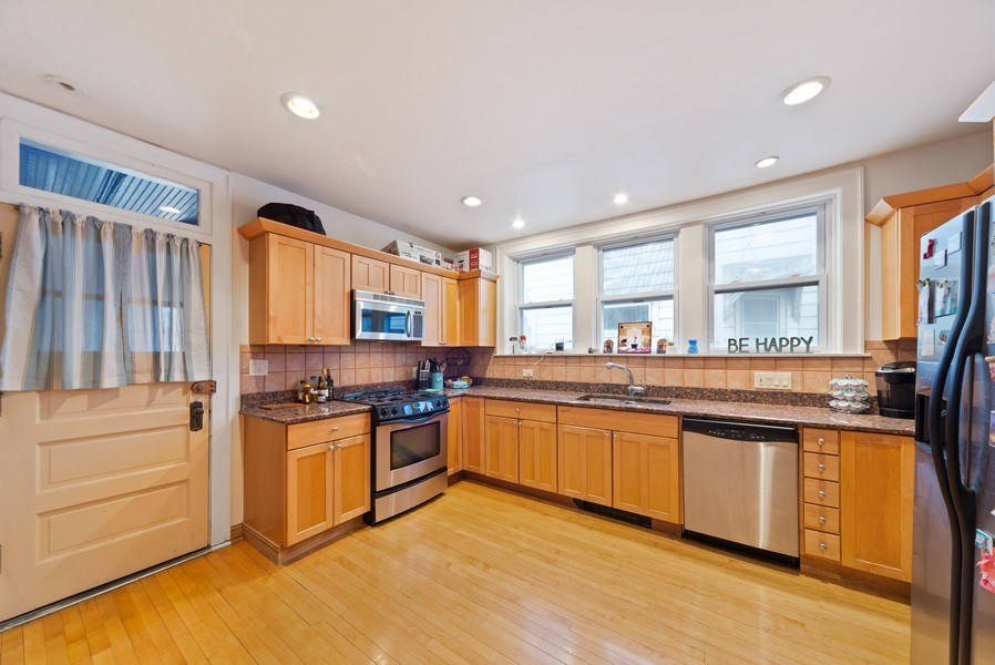 Real Estate Photography - 4042 N Springfield, Chicago, IL, 60618 - Unit 1 Kitchen View 2