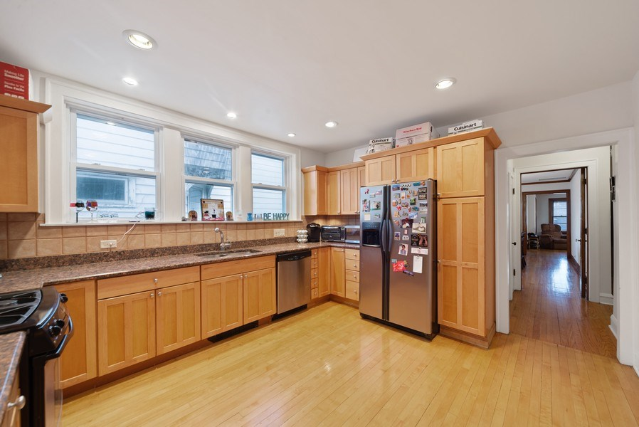 Real Estate Photography - 4042 N Springfield, Chicago, IL, 60618 - Unit 1 Kitchen