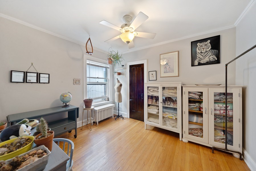Real Estate Photography - 4042 N Springfield, Chicago, IL, 60618 - Unit 2 Bedroom 2